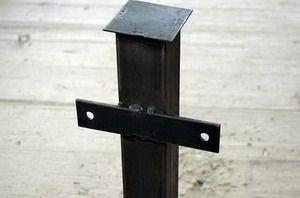 Столбы для забора металлические - фото