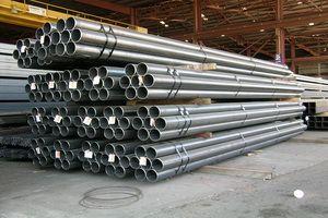 Складирование стальных труб
